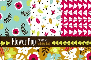 Flowers - Hand Drawn Vector Patterns