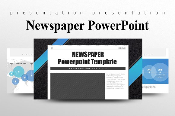 Newspaper Powerpoint Template Presentation Templates Creative Market