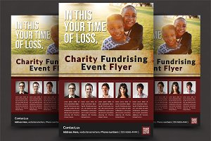 Charity Fundrising Flyer Templates