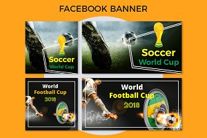 World Football Cup Facebook Banner