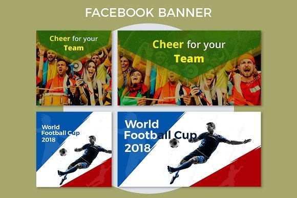 cheer your team football banner facebook templates creative market