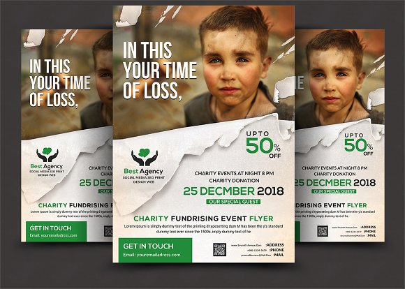 charity flyer flyer templates creative market