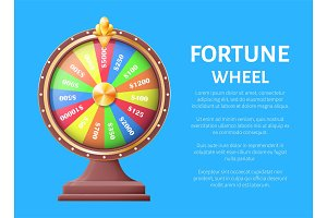 Fortune Wheel Poster, Place for Text