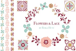 Wedding Florals - Vector Clip Art