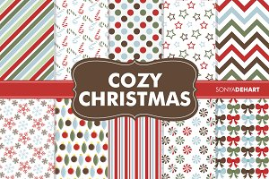 Digital Papers Cozy Christmas