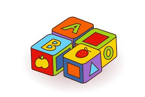 Baby s letter cubes toys. Wooden