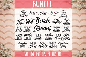 Wedding Set Bundle SVG 26 designs