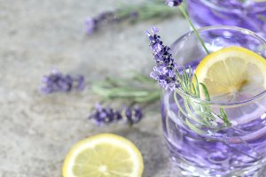 Lavender drink lemon Summer lemonade