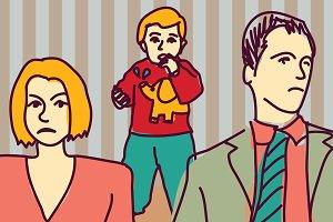 Unhappy parents divorce couple