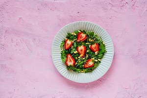 Fresh strawberry salad