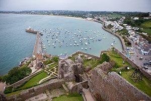 View of Gorey Harbour, Jersey