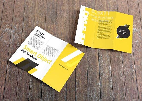 8 5 11 z fold brochure mockups product mockups creative market