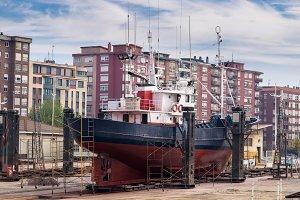 Fishing boat in a shipyard #1