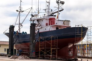 Fishing boat in a shipyard #2