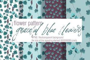 Watercolor floral pattern+BONUS
