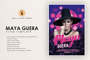 Maya Guera Flyer