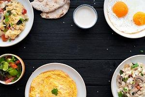 Several breakfast options