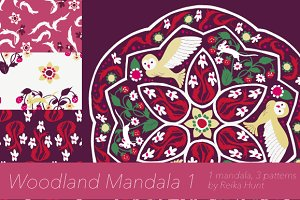 Woodland Mandala 1 - Vector Clip Art