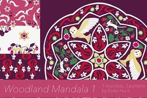 Woodland Mandala 1 - Vector Clip Art