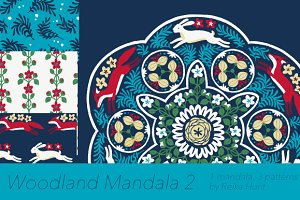 Woodland Mandala 2 - Vector Clip Art