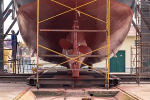 Fishing boat in a shipyard #5