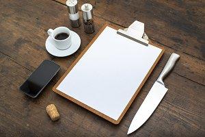 Diner menu design template