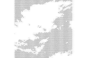 Vector Grunge Halftone Texture