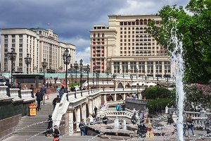 Moscow, Russia - Manezhnaya square