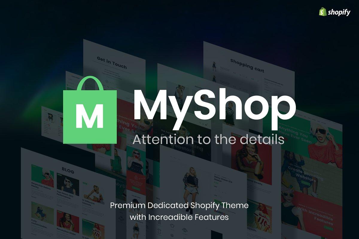 Myshop Best Shopify Theme Web Themes Creative Market