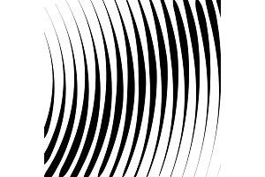 Wave line halftone texture