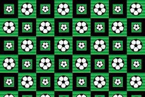 Soccer Ball Icon Seamless Pattern