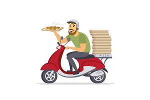 Delivery man - vector illustration
