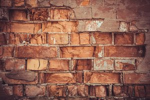 old red brick grunge wall texture or