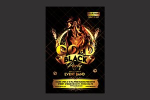 Gold and Black Party Flyer