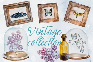 Watercolor Vintage Collection Set
