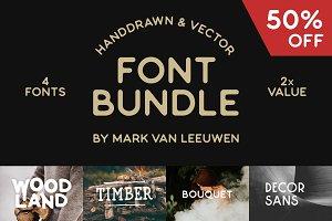 Font Bundle - 50% Off!
