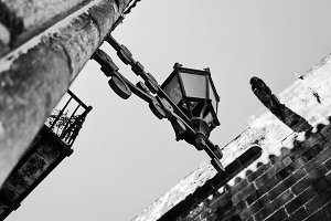 Old street lamp in the old town