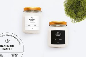 Colorful Candle Label (2 types)