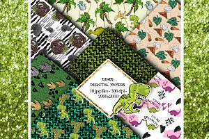 Dinosaurs seamless Patterns