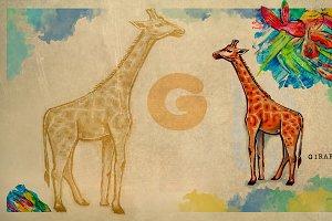 English alphabet , Giraffe