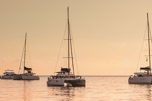 Recreational Yachts at the Indian Oc