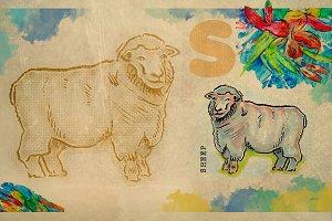 English alphabet , Sheep