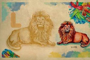 English alphabet , Lion