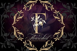 Flourished Monogram Collection