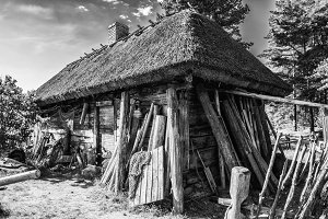 fisherman's house, old wooden house