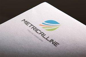 Metrical Line Logo Template