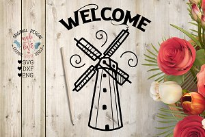 Welcome Windmill Cut File