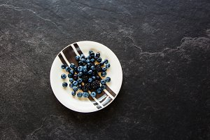 Blueberry and blackberry plate