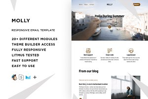 Molly – Email template + Builder