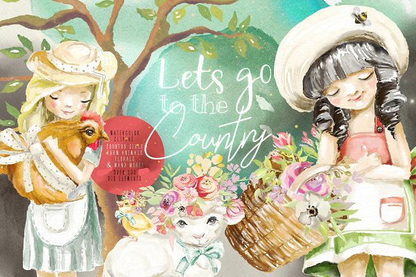 Illustrations and Illustration Products: Principesca - Let's Go To The Country